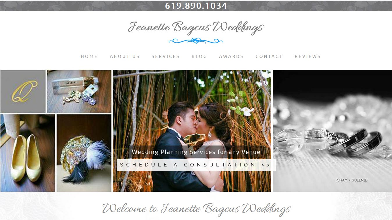 Wedding Planner Website Design & Development in Carlsbad